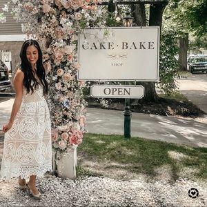Chic wish crochet white dress